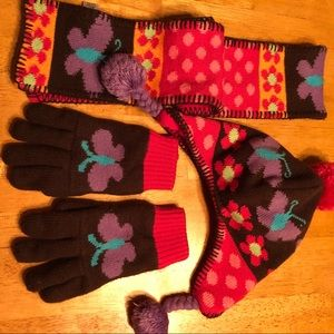 Other - Girls winter hat, gloves and scarf set.